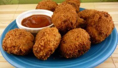 Nuggets de pollo veganos