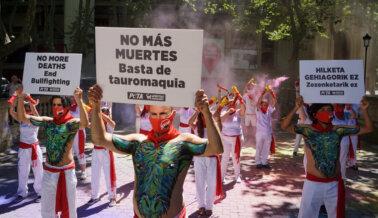 Activistas Piden el Fin Definitivo de las Corridas y Encierros de Toros
