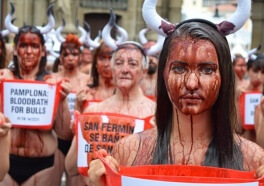 Photos: Mass 'Bloodbath' in Pamplona's Main Square Marks Start of Grisly Running of the Bulls