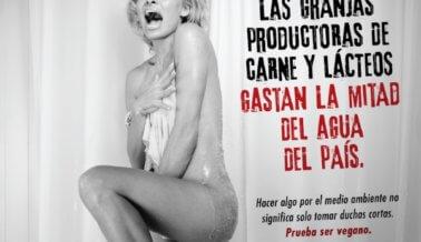 Pamela Anderson Grita: La Carne y Los Productos Lácteos Drenan la Mitad Del Agua de la Nación