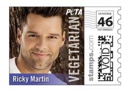 Vegetarian Stars Featured on PETA Stamps