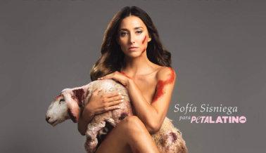 Sofía Sisniega se Quita Todo Para Protestar la Crueldad de la Lana