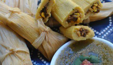 Tamales veganos de maíz y lentejas