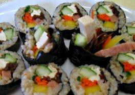 Gimbap (rollo de sushi coreano)