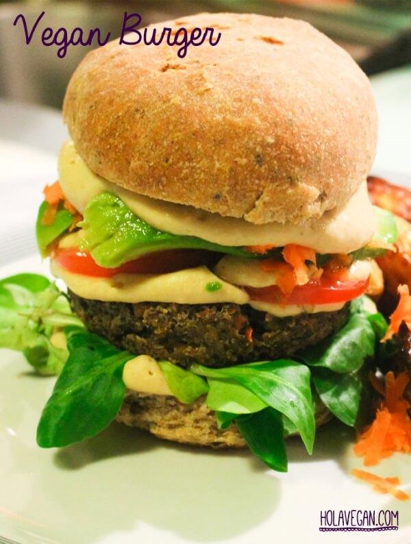 vegan burger from hola vegan