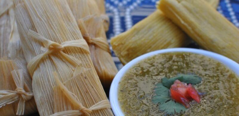 christmas green chile tamales