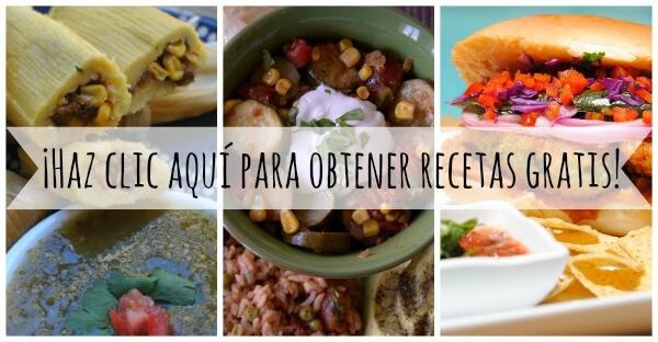 recipe collage Spanish - free recipes