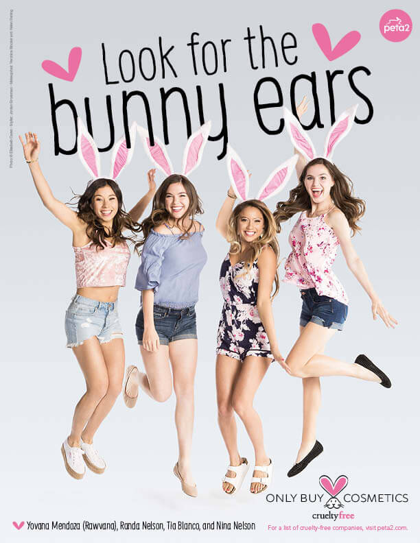 Stunning Influencers' Beauty Secret: Look for the PETA Bunny Ears ...