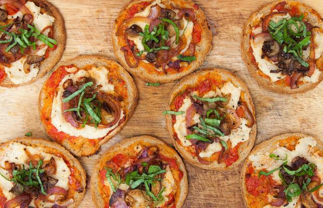 mini pizzas from texturadeverduras