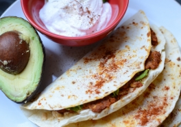 Soy Chorizo and Avocado 'Quesadillas'