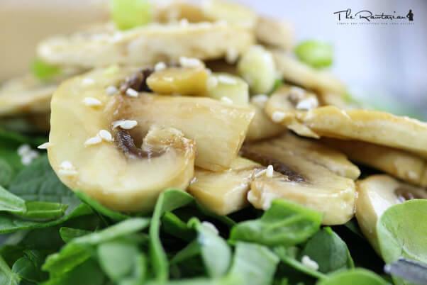 raw-marinated-mushroom
