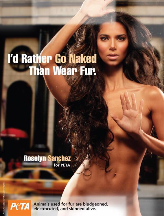 Roselyn Sanchez: I'd Rather Go Naked Than Wear Fur
