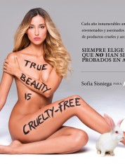 Sofía Sisniega: Belleza, Libre de Crueldad