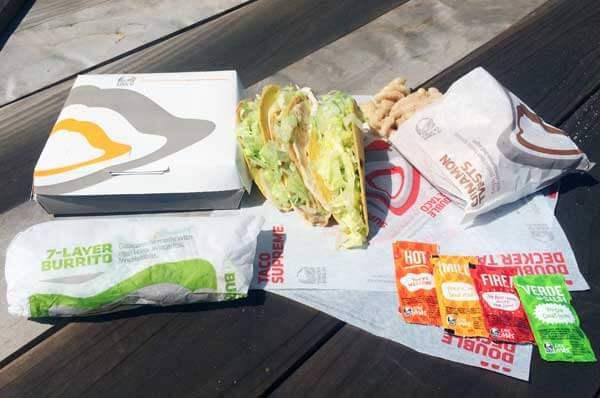 tacobell - tacos - burrito - cinnamon twist