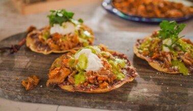 Tacos de Tinga Vegana de Setas y Zanahoria